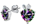 Original Star K 8mm Heart Shape Mystic Topaz Heart Earrings