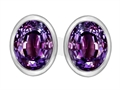 Original Star K™ 8x6mm Oval Simulated Alexandrite Earrings Studs