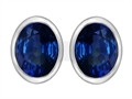 Original Star K™ 8x6mm Oval Created Sapphire Earring Studs