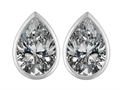 Original Star K™ 9x6mm Pear Shape Genuine White Topaz Earring Studs