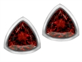 Original Star K™ 7mm Trillion Cut Genuine Garnet Earring Studs