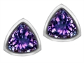 Original Star K™ 7mm Trillion Cut Simulated Alexandrite Earrings Studs