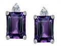 Original Star K™ 8x6mm Emerald Octagon Cut Simulated Alexandrite Earrings Studs