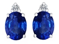 Original Star K 8x6mm Oval Created Sapphire Earring Studs