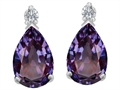 Original Star K™ 9x6mm Pear Shape Simulated Alexandrite Earrings Studs