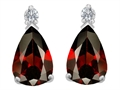 Original Star K™ 9x6mm Pear Shape Genuine Garnet Earring Studs