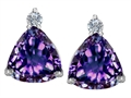 Original Star K 7mm Trillion Cut Simulated Alexandrite Earring Studs