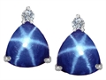 Original Star K™ 7mm Trillion Cut Created Star Sapphire Earring Studs