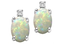 Tommaso Design™ Oval 8x6mm Genuine Opal Earrings