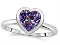 Tommaso Design 7mm Heart Shape Simulated Alexandrite Engagement Solitaire Ring