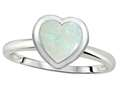 Tommaso Design™ 7mm Heart Shape Genuine Opal Engagement Solitaire Ring