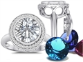 Switch-It Gems™ Round 10mm Simulated White Topaz Ring with 12 Interchangeable Simulated Birth Months