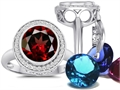 Switch-It Gems™ Round 10mm Simulated Garnet Ring with 12 Interchangeable Simulated Birthstones