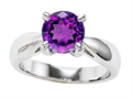 Original Star K 7mm Round Genuine Amethyst Engagement Ring