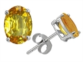 Original Star K Classic Oval 7x5mm Genuine Citrine Earring Studs