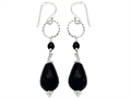 Noah Philippe™ Pear Shape Simulated Black Onyx Dangling Drop Earrings