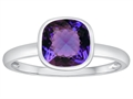 Tommaso Design™ 7mm Cushion Cut Simulated Alexandrite Engagement Solitaire Ring