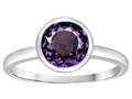 Tommaso Design 7mm Round Simulated Alexandrite Engagement Solitaire Ring
