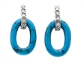 Noah Philippe™ Oval Shape Turquoise Earrings