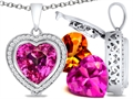 Switch-It Gems™ Heart Shape 12mm Simulated Pink Tourmaline Pendant with 12 Interchangeable Simulated Birth Months