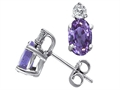 Tommaso Design Oval Genuine Tanzanite Earrings