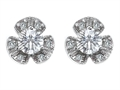 Original Star K Flower Earrings With Round 5mm Cubic Zirconia