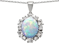 Original Star K™ Large Oval Created Opal Pendant