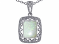 Tommaso Design™ Emerald Cut Genuine Opal Pendant