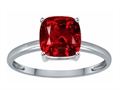 Tommaso Design Created Ruby 7mm Cushion Cut Solitaire Engagement Ring