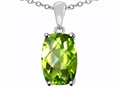 Tommaso Design 8x6mm Cushion Octagon Cut Genuine Peridot Pendant