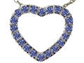 Tommaso Design Heart Shape Pendant with Round Genuine Tanzanite