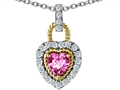 Original Star K Heart Shape Created Pink Sapphire Pendant