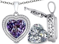 Switch-It Gems 2in1 Heart 10mm Simulated Alexandrite Pendant with Interchangeable Simulated Diamond Included