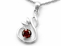 Original Star K Round Simulated Garnet Swan Pendant