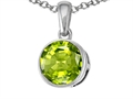 Tommaso Design™ Round Genuine Peridot Pendant