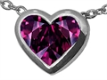 Tommaso Design Invisible Set Genuine Rhodolite Pendant