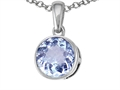 Tommaso Design Round 7mm Genuine Aquamarine Pendant