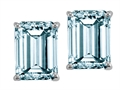 Tommaso Design 8x6mm Emerald Cut Genuine Aquamarine Earrings