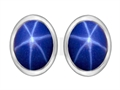 Original Star K 8x6mm Oval Created Star Sapphire Earring Studs