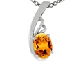Tommaso Design™ Oval Genuine Citrine Pendant