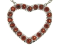 Tommaso Design Heart Shape Pendant with Round Genuine Garnet