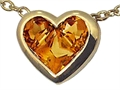 Tommaso Design Invisible Set Genuine Citrine Pendant