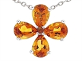 Tommaso Design™ Pear Shape Genuine Citrine Flower Pendant