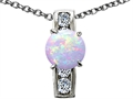Original Star K 7mm Round Created Opal Pendant