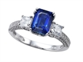 Original Star K™ Ring with 8x6mm Emerald Cut Created Sapphire