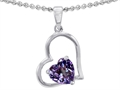 Original Star K™ 7mm Heart Shape Simulated Alexandrite Pendant