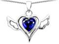 Original Star K™ Wings Of Love Pendant with Created Heart Sapphire