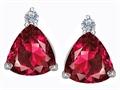 Original Star K™ 7mm Trillion Cut Created Ruby Earrings Studs