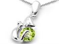 Original Star K™ Round 6mm Simulated Peridot Cat Pendant