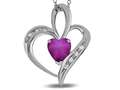 Tommaso Design™ Heart Shape 6mm Simulated Star Ruby Pendant